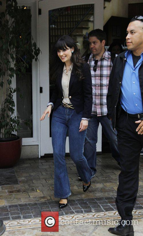 Zooey Dechanel  at The Grove to film...