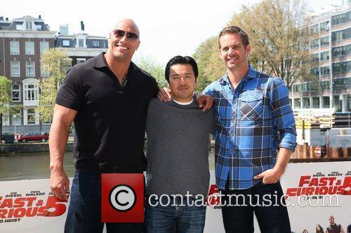Dwayne Johnson, Justin Lin and Paul Walker 3
