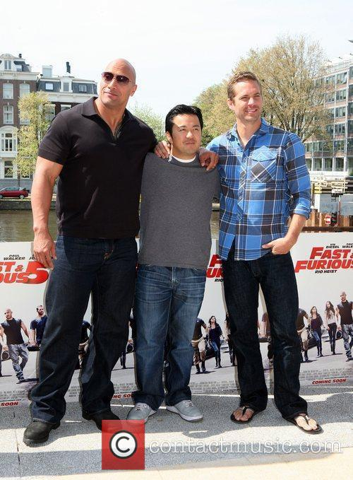 Dwayne Johnson, Justin Lin and Paul Walker