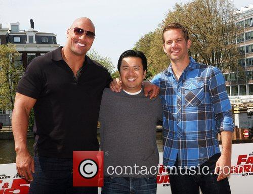Dwayne Johnson, Justin Lin and Paul Walker 2
