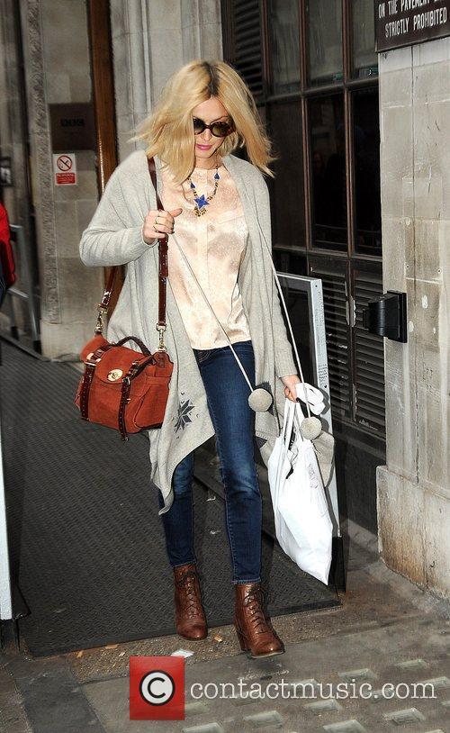 Fearne Cotton leaving the BBC Radio One studios...