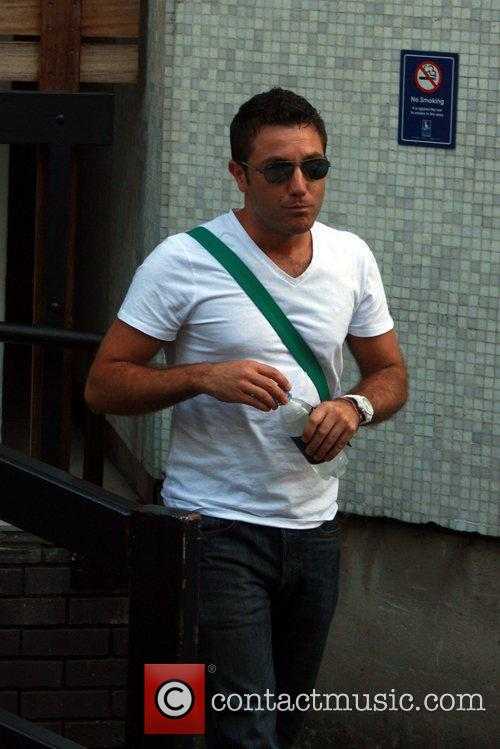 Gino D'Acampo  before showing off his Guinness...
