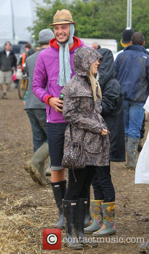 Andy Carroll Celebrities at The 2011 Glastonbury Music...