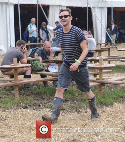 Will Young  Celebrities at The 2011 Glastonbury...