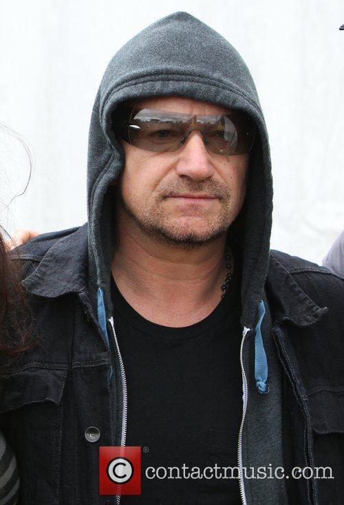 Bono  Celebrities at The 2011 Glastonbury Music...