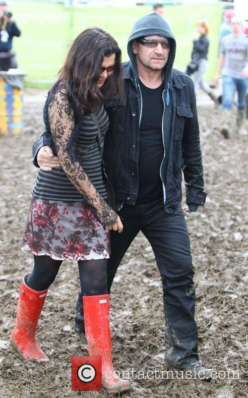 Celebrities at The 2011 Glastonbury Music Festival held...