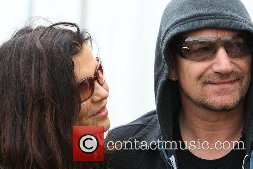 Bono and his wife Ali Hewson Celebrities at...