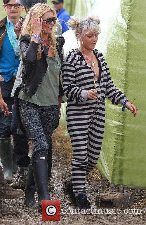 Kate Moss and Jamie Winstone Celebrities at The...