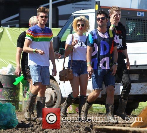 Celebrities at The 2011 Glastonbury Music Festival held...