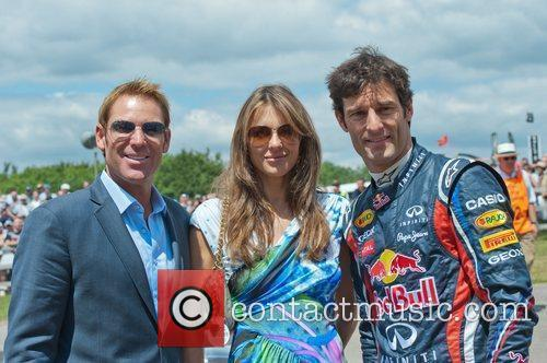 Elizabeth Hurley and Mark Webber