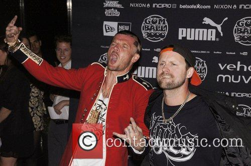 Dirty Sanchez arriving at the Gumball 3000 launch...