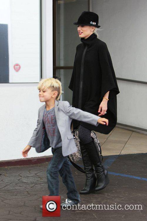 Gwen Stefani and her son Kingston  leaving...