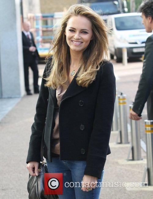 Kara Tointon leaving the ITV studios after appearing