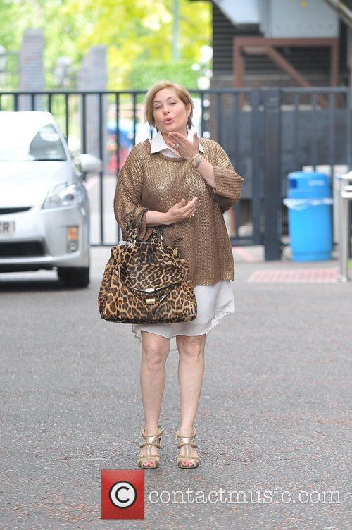 Brix Smith  leaving the London studios after...