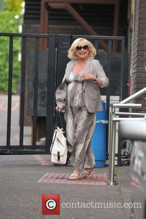 Judy Finnigan  leaving the London studios after...