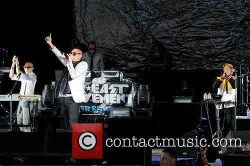 Far East Movement  performs during the I...