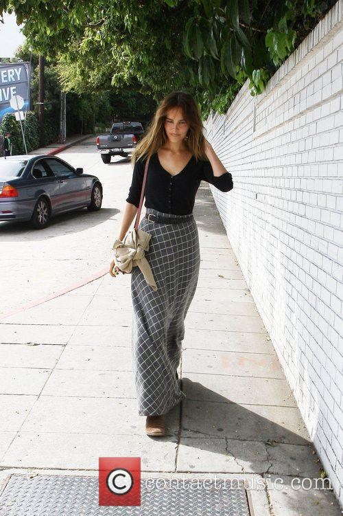 Leaving the Chateau Marmont hotel