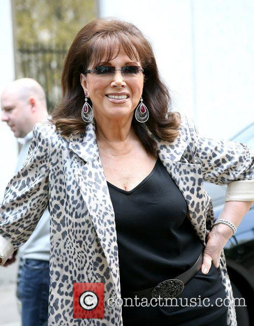 Jackie Collins outside the ITV studios London, England...