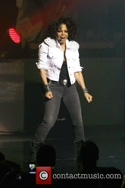 Janet Jackson performing live in concert at Sydney...