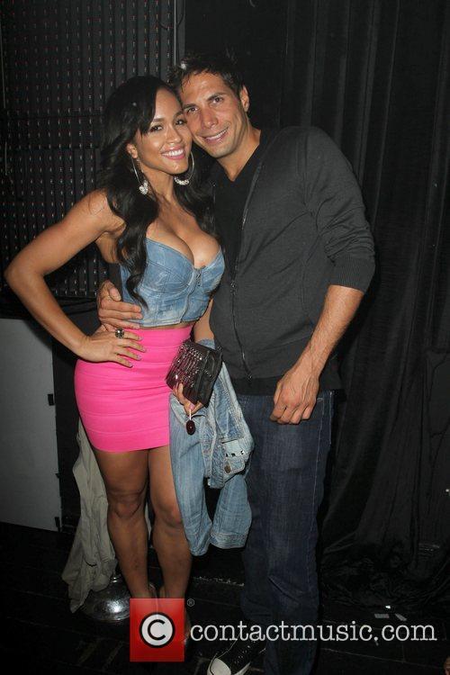 Joe Francis and Rosa Acosta Jermaine Dupri Celebrates...