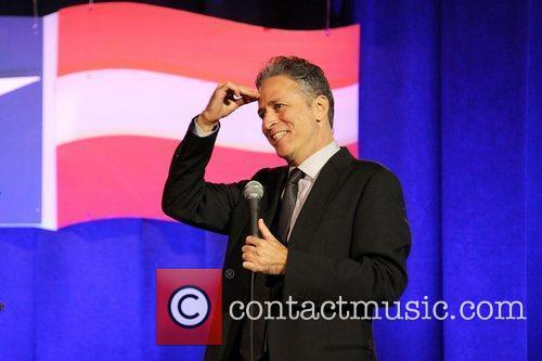 Daily Show Host Jon Stewart performing at The...