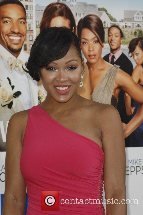 Meagan Good  Los Angeles premiere of 'Jumping...