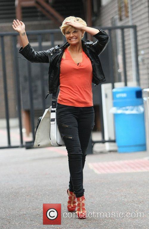 Leaving the ITV studios after