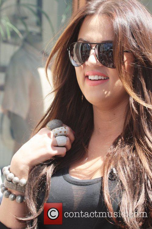 Khloe Kardashian arrives at the Grove to appear...