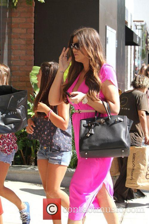 Khloe Kardashian Filming scenes for her reality show,...