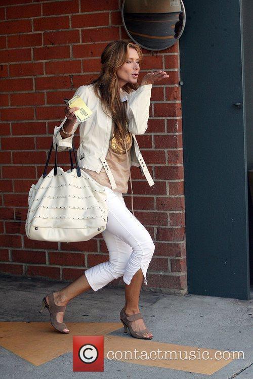 Former Playboy model Kimberley Conrad leaving a medical...