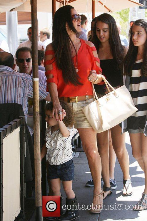 Kyle Richards and her daughter Portia arriving at...