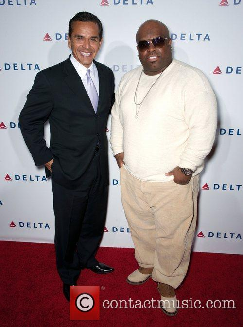 Antonio Villaraigosa, Cee-lo Green and Celebration 2