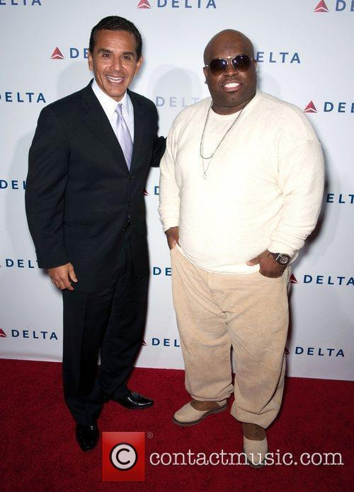 Antonio Villaraigosa, Cee-lo Green and Celebration 4