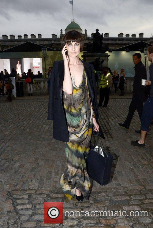 Outside Somerset house during London Fashion Week