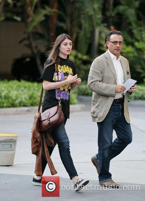 Andy Garcia  Celebrities arrive at The Staples...
