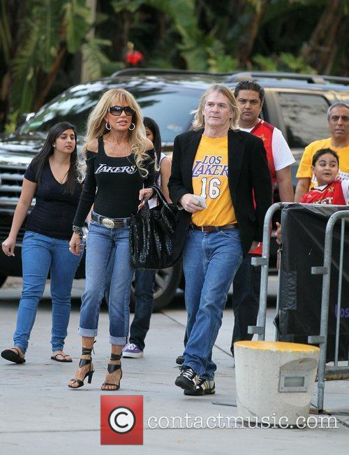 Dyan Cannon  Celebrities arrive at The Staples...