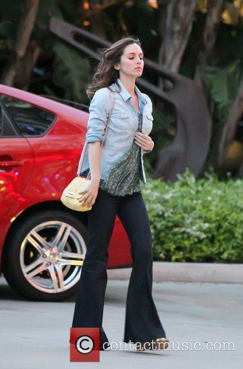 Eliza Dushku  Celebrities arrive at The Staples...