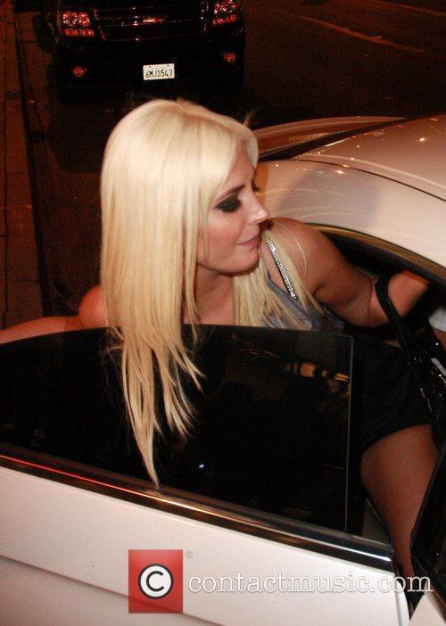 Kristina Shannon  Celebrities leaving the Lemon Basket...