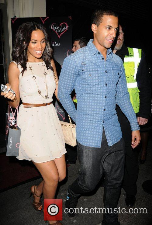 Leaving the Lipsy party at the Chinawhite club