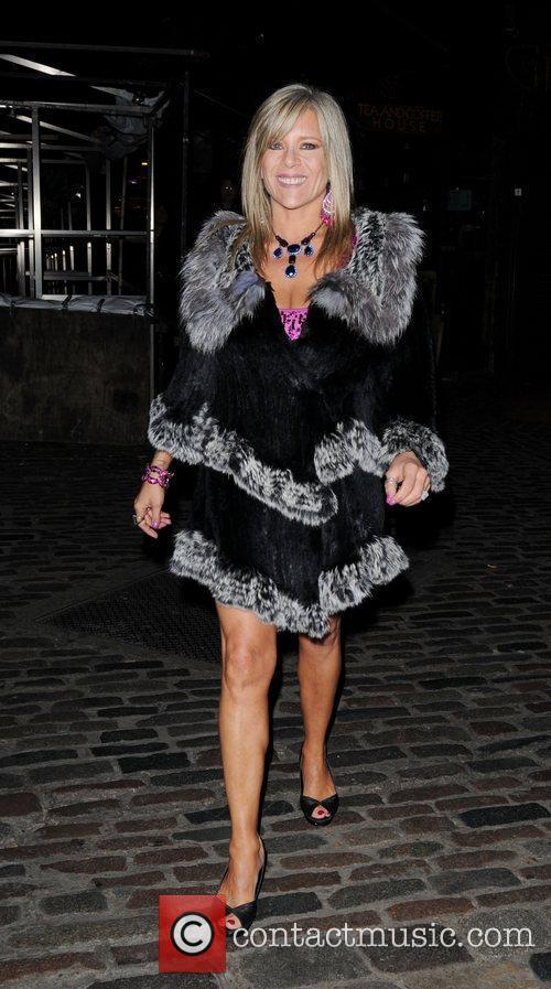 Samantha Fox  leaving Liz McLarnon's birthday party...