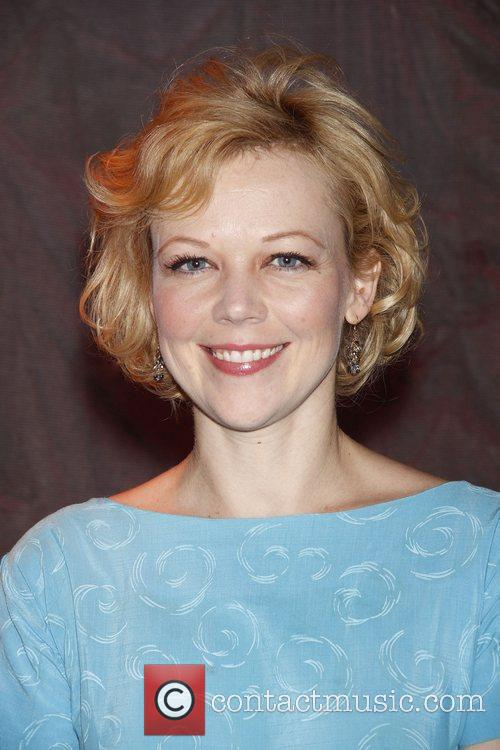 Emily Bergl Celebrating the 700th performance of the...