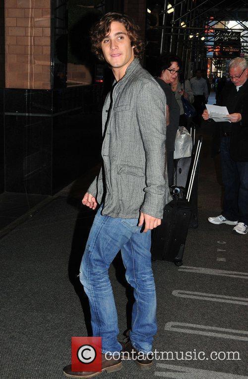 Diego Boneta leaving his Manhattan hotel New York...