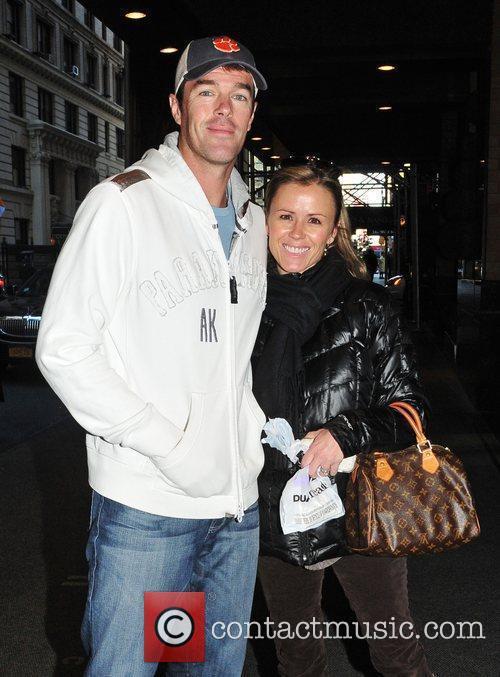 Ryan Sutter and Trista Sutter leaving their Manhattan...