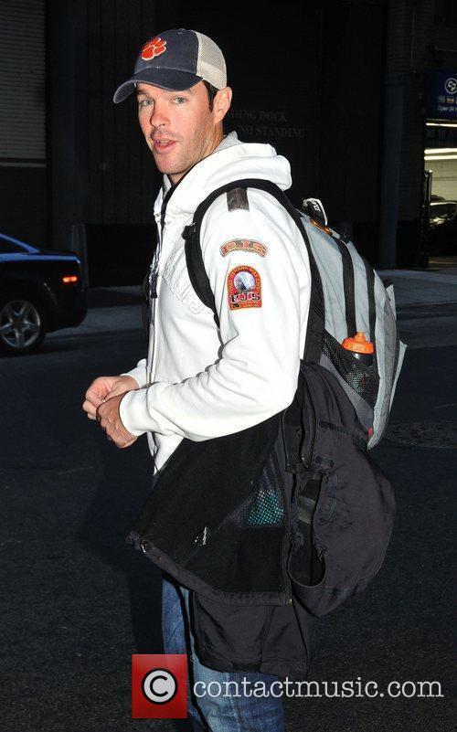 Ryan Sutter leaving his Manhattan hotel New York...
