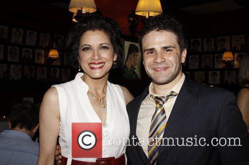 Saundra Santiago and Gabriel Furman Opening night after...