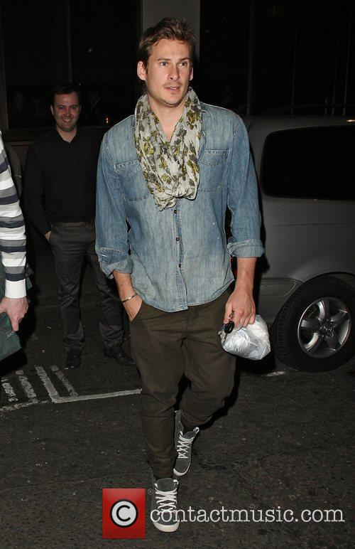 Lee Ryan outside the May Fair hotel wearing...