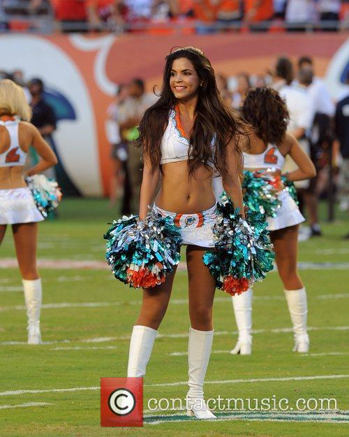 Miami Dolphins Cheerleaders  Perform before The Miami...