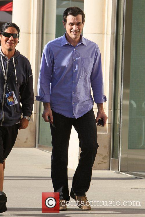 Ty Burrell on the set of 'Modern Family'...