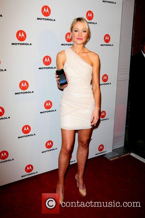 Katrina Bowden  the DROID RAZR by Motorola...
