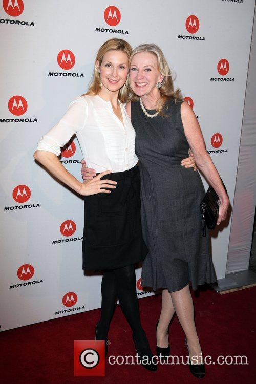 Kelly Rutherford, Caroline Lagerfelt  the DROID RAZR...